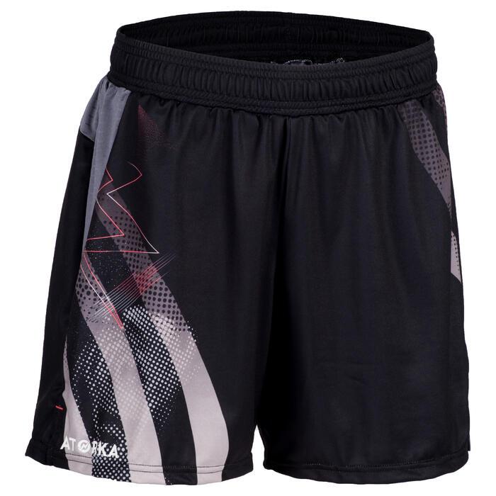 Handbalshort voor dames H500 zwart / grijs