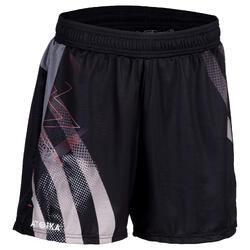Short de handball H500 femme noir et