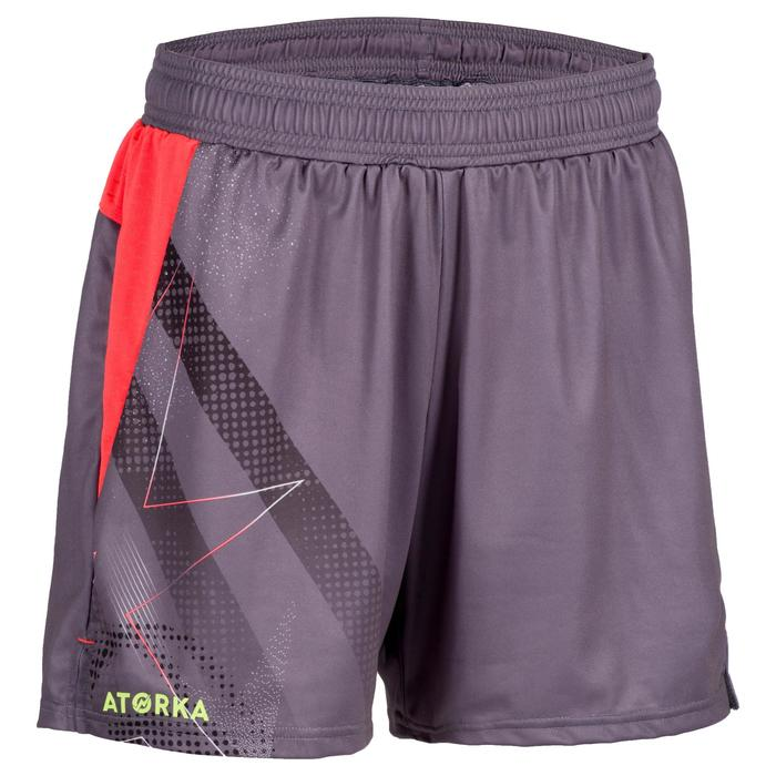 Handbalshort voor dames H500 grijs / roze