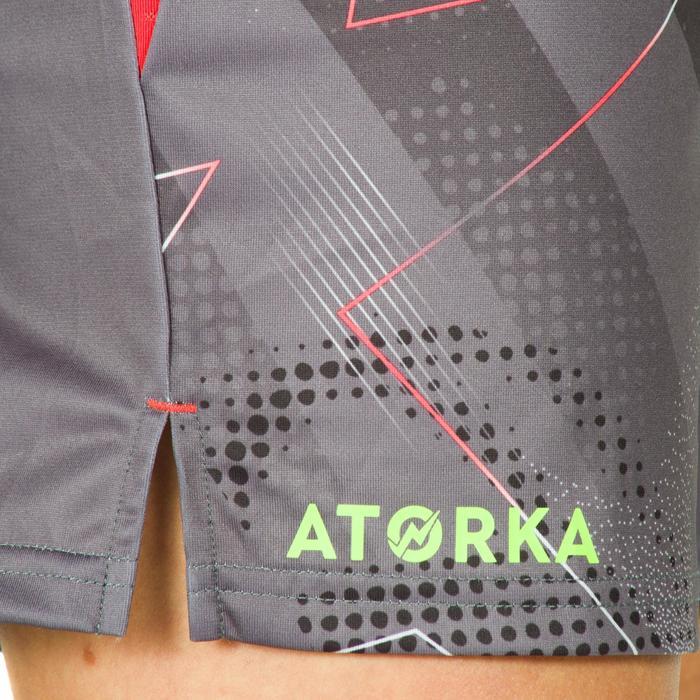Handbalshort voor dames H500 grijs en roze