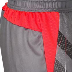 Short de handball femme H500 gris / rose