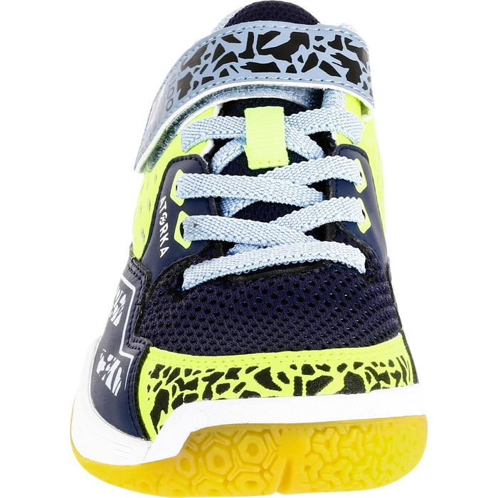 Chaussures de Handball H100 fille avec lacets violettes et roses - 1315661