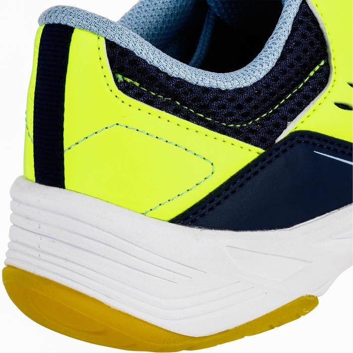 Handballschuhe H100 mit Klettverschluss blau/gelb