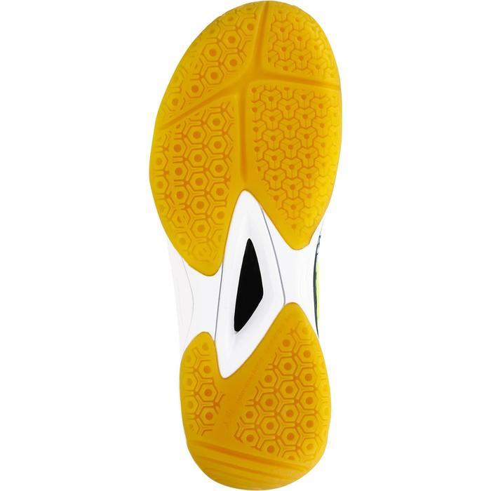 Handbalschoenen kind H100 klittenband blauw/geel