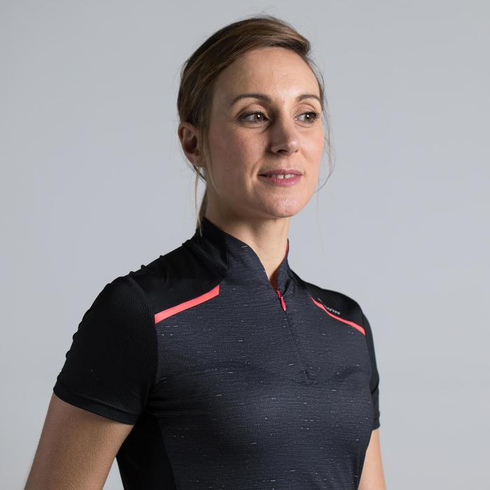 MAILLOT VELO MANCHES COURTE FEMME 500 - 1315801