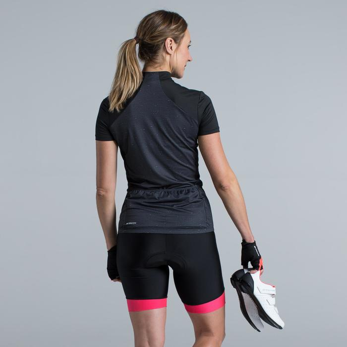 MAILLOT VELO MANCHES COURTE FEMME 500 - 1315802