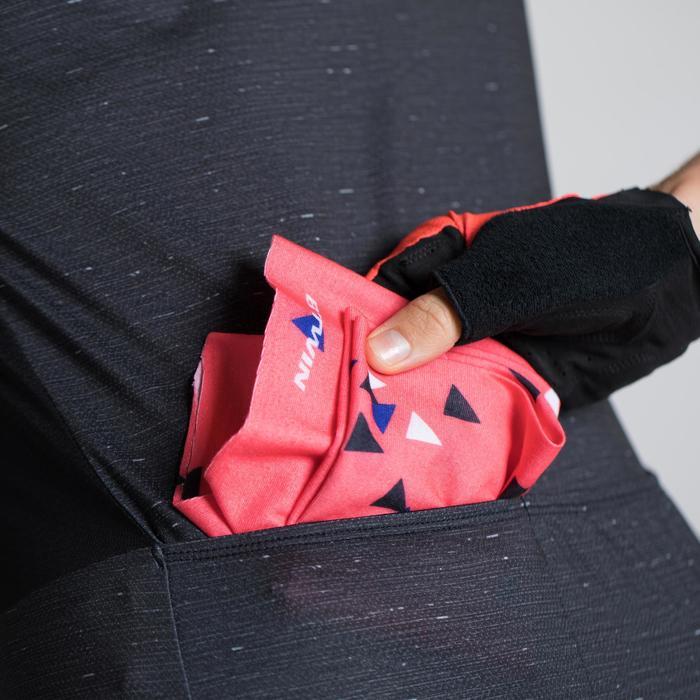 MAILLOT VELO MANCHES COURTES 500 FEMME NOIR/ROSE