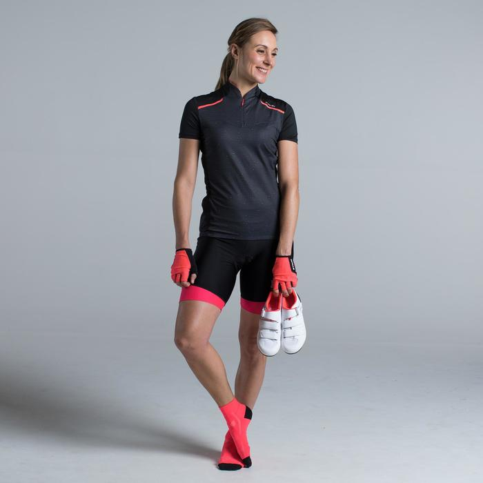 MAILLOT VELO MANCHES COURTE FEMME 500 - 1315804