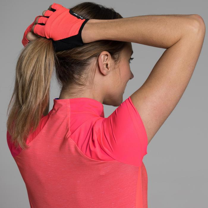 MAILLOT VELO MANCHES COURTE FEMME 500 - 1315811