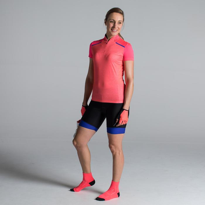 MAILLOT VELO MANCHES COURTE FEMME 500 - 1315821