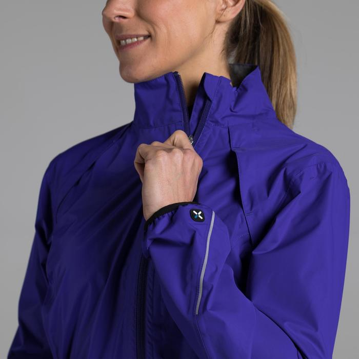 Veste coupe pluie vélo femme 500 bleu