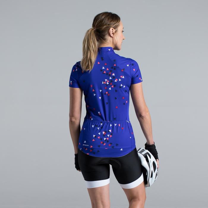 MAILLOT VELO MANCHES COURTE FEMME 500 - 1315828