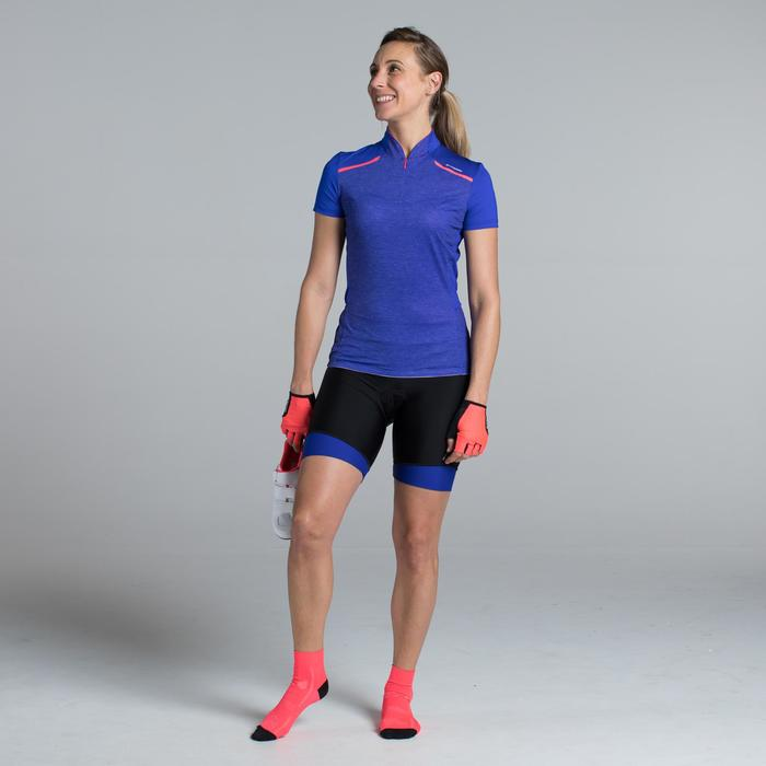 MAILLOT VELO MANCHES COURTE FEMME 500 - 1315844