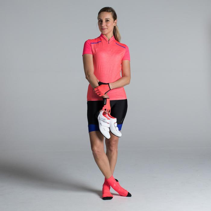 MAILLOT VELO MANCHES COURTE FEMME 500 - 1315845