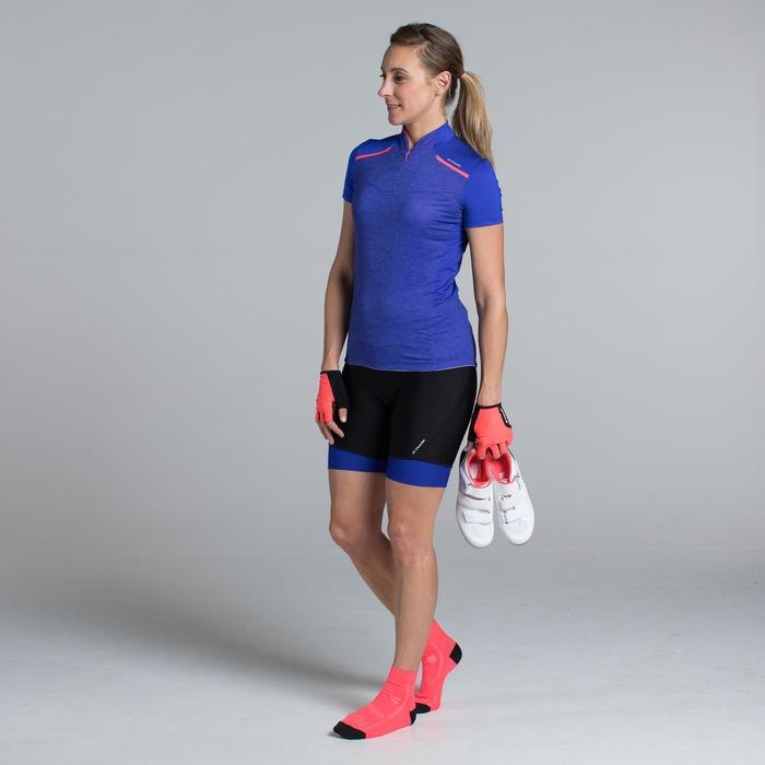 MAILLOT VELO MANCHES COURTE FEMME 500 - 1315856
