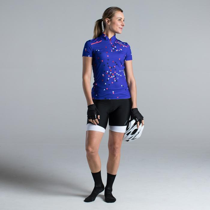 MAILLOT VELO MANCHES COURTE FEMME 500 - 1315863