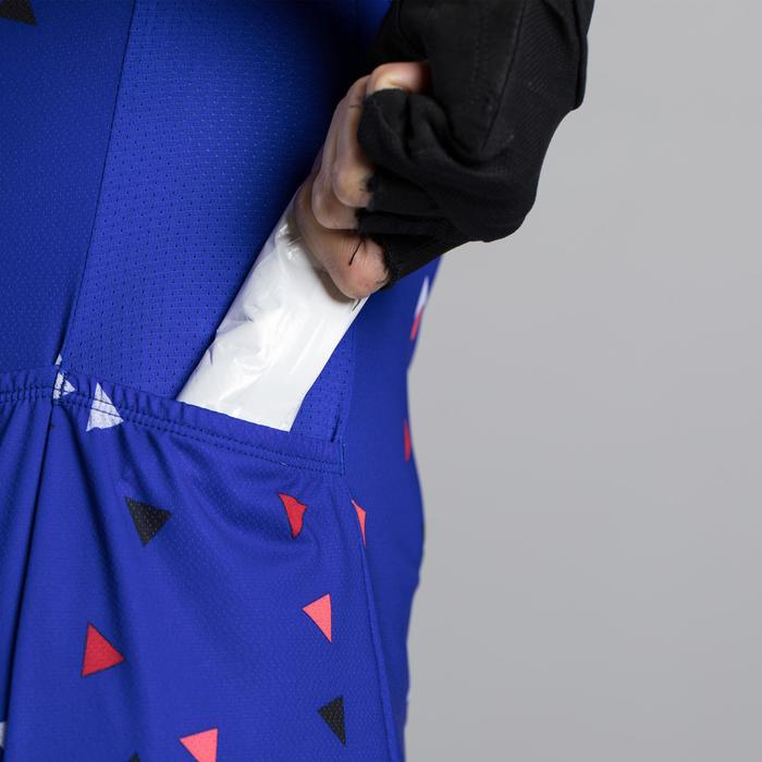 AILLOT VELO MANCHES COURTES 500 FEMME GLITTER BLUE