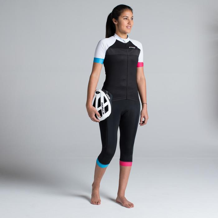 MAILLOT VELO MANCHES COURTES 900 FEMME TEAM TRIANGLES