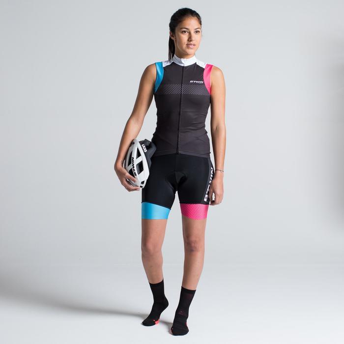 Kurze Fahrrad-Trägerhose Rennrad RC 900 Damen Team