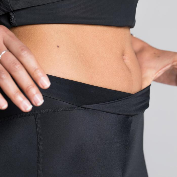 Fietsbroek 900 zonder bretels voor dames Team driehoeken