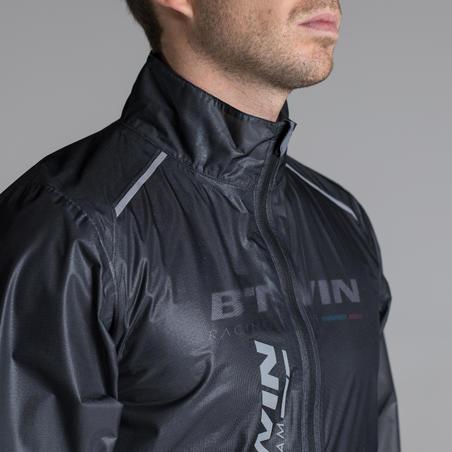Ultralight Sport Road Cycling Rain Jacket - Black