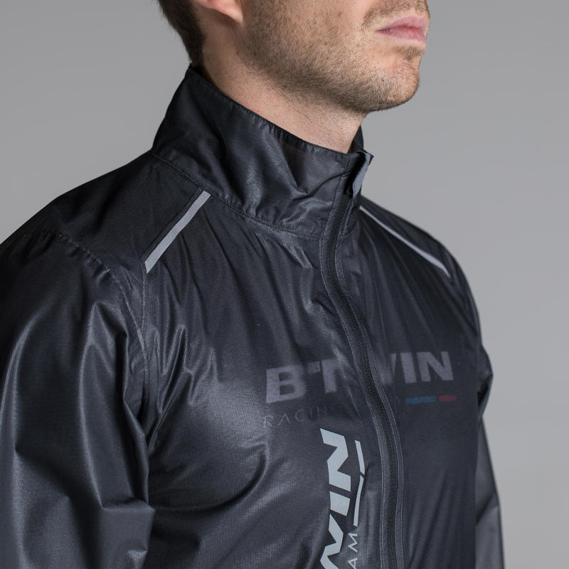 Ultralight Sport Road Cycling Rain Jacket - Black