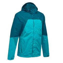 Chaqueta Lluvia Senderismo en la montaña MH impermeable Hombre Azul 342e49789617