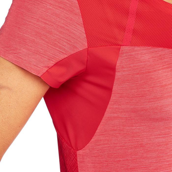 Camiseta de senderismo rápido Mujer FH500 Helium Rosa