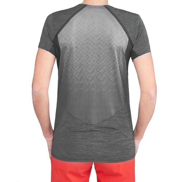 T-shirt voor fast hiking dames FH500 Helium zwart