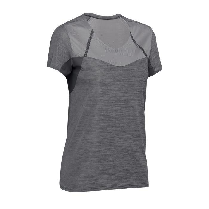 Camiseta de senderismo rápido Mujer FH500 Helium Negro