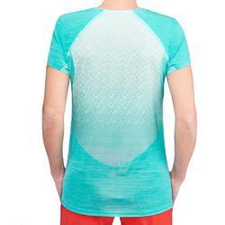 Camiseta Manga Corta de Montaña y Trekking Forclaz FH500 Helium Turquesa