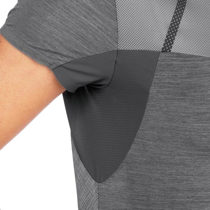 T-shirt manches courtes de randonnée rapide Femme FH500 Helium Noir