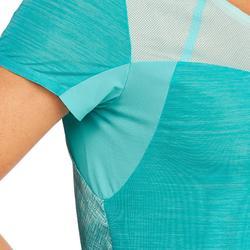 T-shirt de randonnée rapide Femme FH500 Helium Turquoise