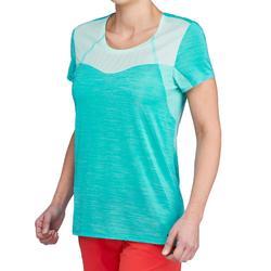 Camiseta de senderismo rápido Mujer FH500 Helium Azul turquesa