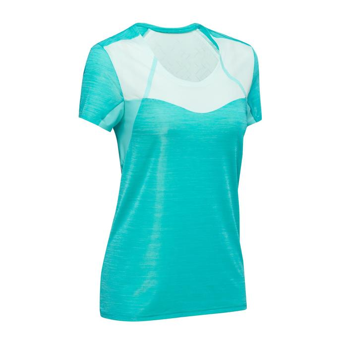 Damesshirt voor fast hiking FH500 Helium turquoise