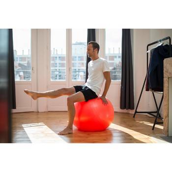 T-Shirt Sportee 100 Regular Gym Stretching Herren weiß