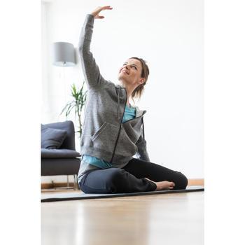 Dameshoodie met rits voor gym en stretching 520 gemêleerd - 1316233