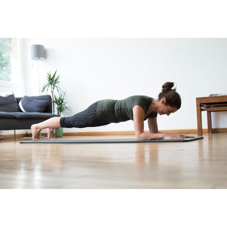 Corsaire FIT+ 500 slim Gym   Pilates femme imprimé vert  f63a79ca2c8