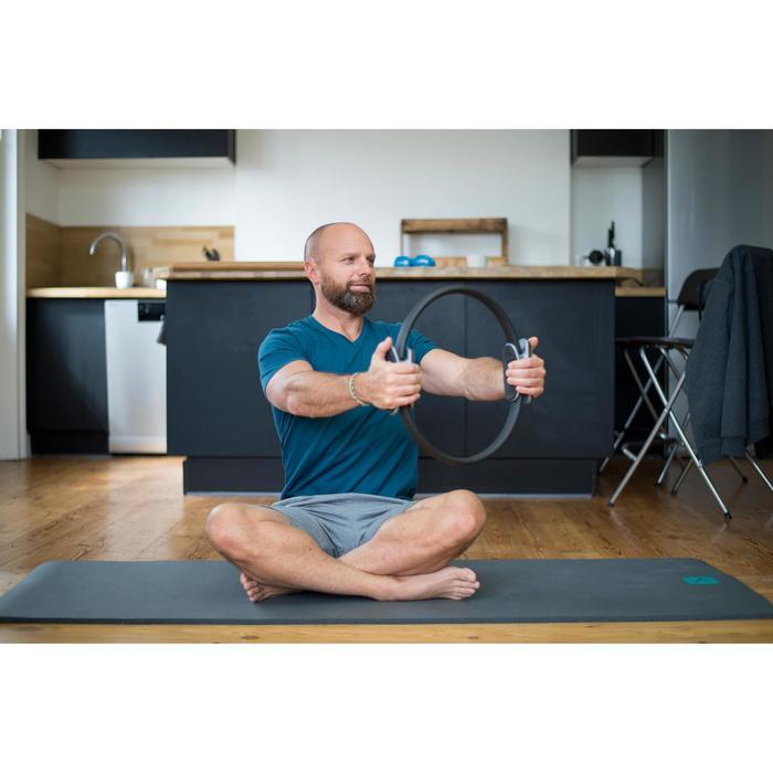 Sporthose kurz 500 Regular knielang Gym Stretching Herren schwarz