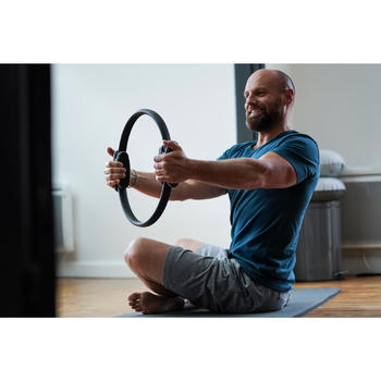 Short 500 regular au dessus du genou Gym Stretching noir homme - 1316252