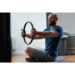 Short 500 regular fit tot boven de knie pilates en lichte gym heren marineblauw