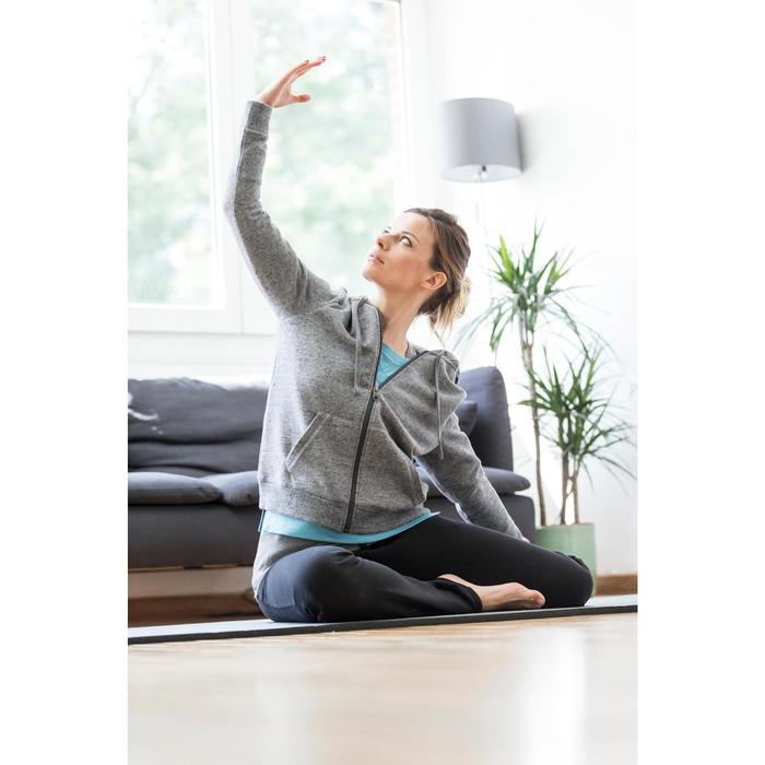 Dameshoodie met rits voor gym en stretching 520 gemêleerd - 1316271