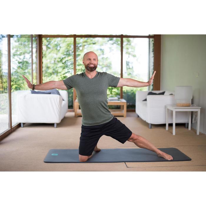 T-shirt 500 col V slim Gym Stretching homme - 1316272
