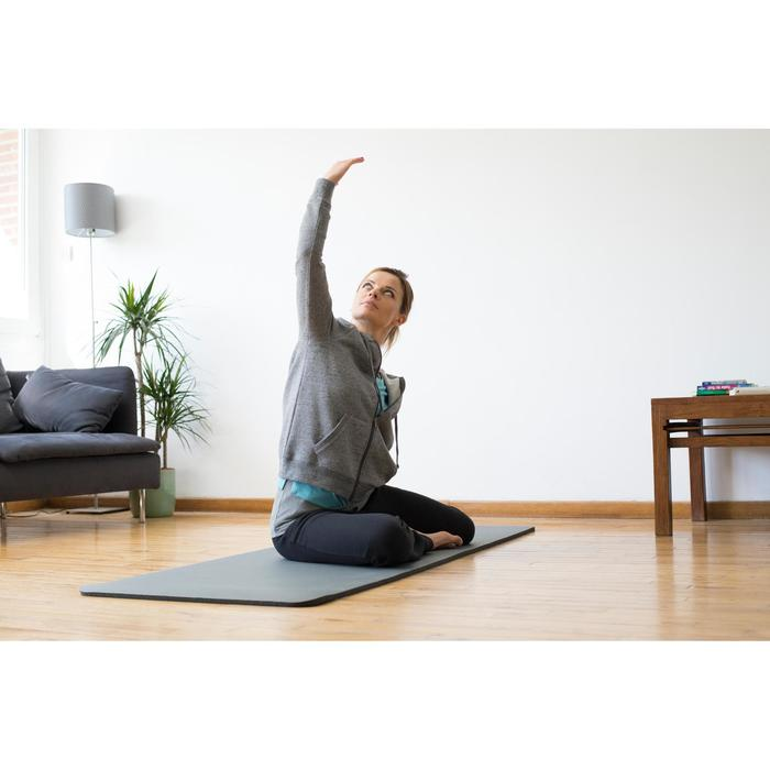 Veste 520 capuche Pilates Gym douce femme gris chiné