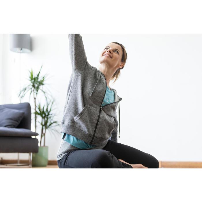 Dameshoodie met rits voor gym en stretching 520 gemêleerd - 1316278