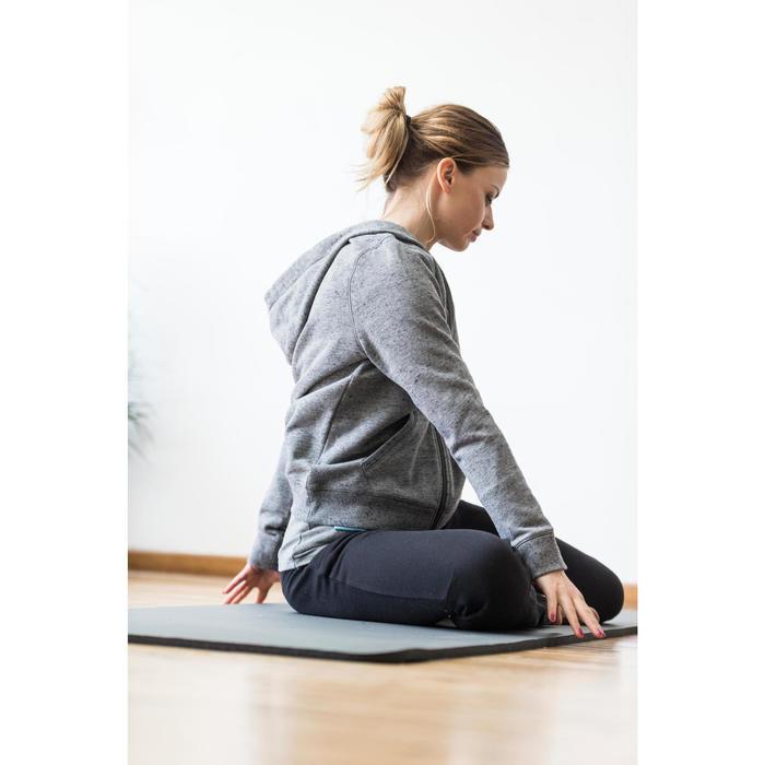 Dameshoodie met rits voor gym en stretching 520 gemêleerd - 1316286