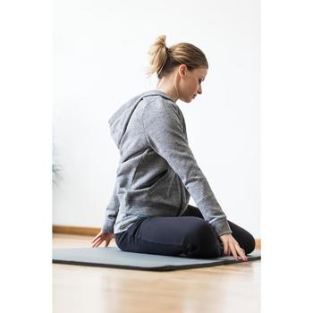 Kapuzenjacke 520 Pilates sanfte Gymnastik Damen graumeliert