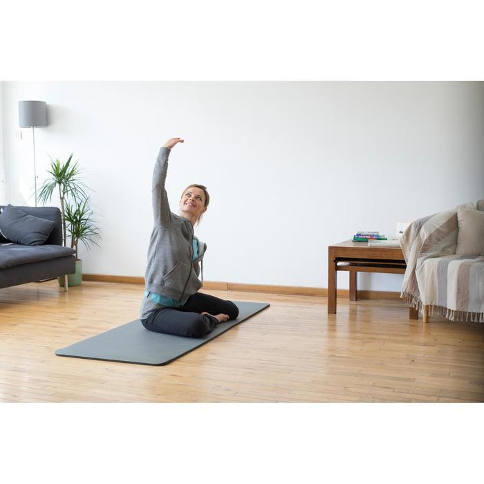 Dameshoodie met rits voor gym en stretching 520 gemêleerd - 1316298