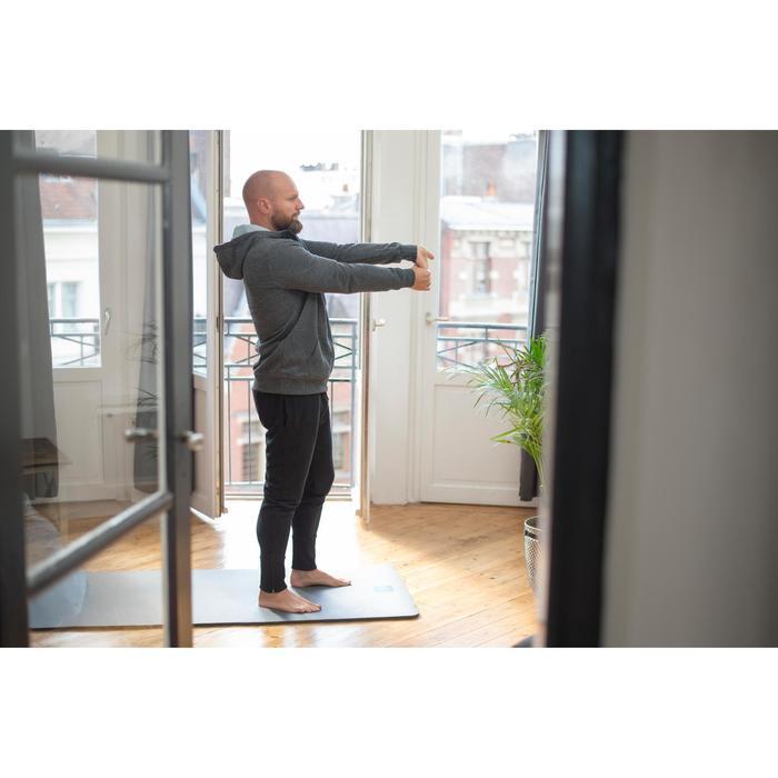 Herenhoodie met rits voor pilates en zachte gym 900 zwart