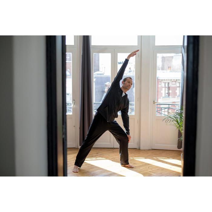 Pantalon 100 regular Gym Stretching noir homme